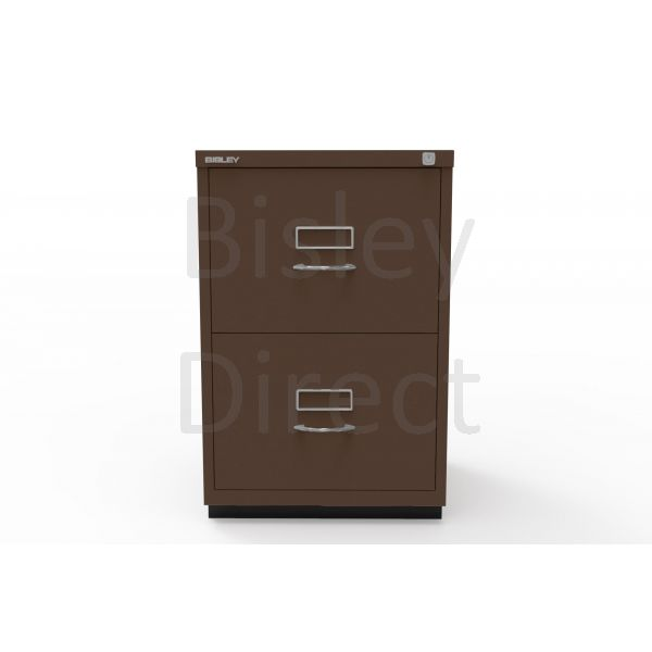 Bisley F Series 2 drawer filing cabinet Classic Front H 71 W 47 D 47cm  046-av5-Coffee