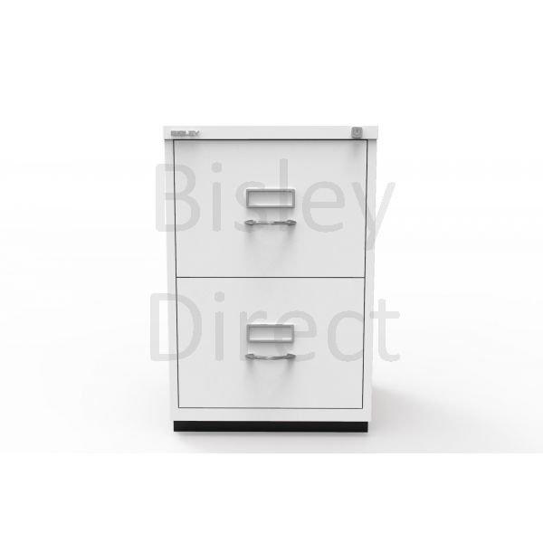 Bisley F Series 2 drawer filing cabinet Classic Front H 71 W 47 D 47cm  046-ba5-TrafficWhite