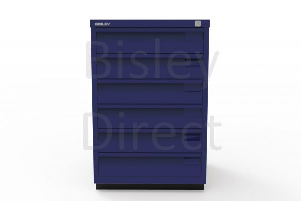 Bisley F Series 6 drawer filing cabinet Flush Front H 71 W 47 D 47cm  0493-ay7-OxfordBlue