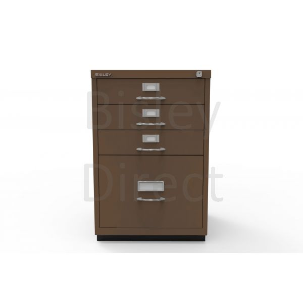 Bisley F Series 4 drawer filing cabinet Classic Front H 71 W 47 D 47cm  050-av5-Coffee