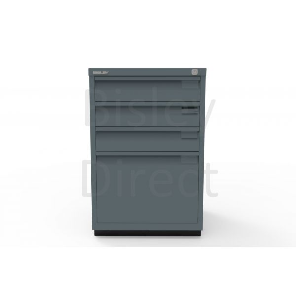 Bisley F Series 4 drawer filing cabinet Flush Front H 71 W 47 D 47cm  0503-aa3-Anthracite
