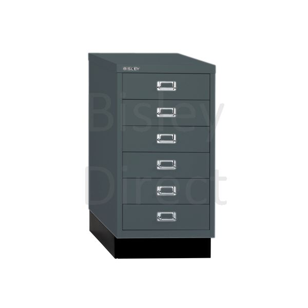 Bisley A3 6 drawer mulitdrawer H67 W 35 D 43.2cm 112-aa3-Anthracite