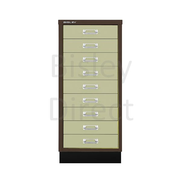 Bisley A3 9 drawer mulitdrawer H94 W 35 D 43.2cm 114-av5av6-CoffeeCream