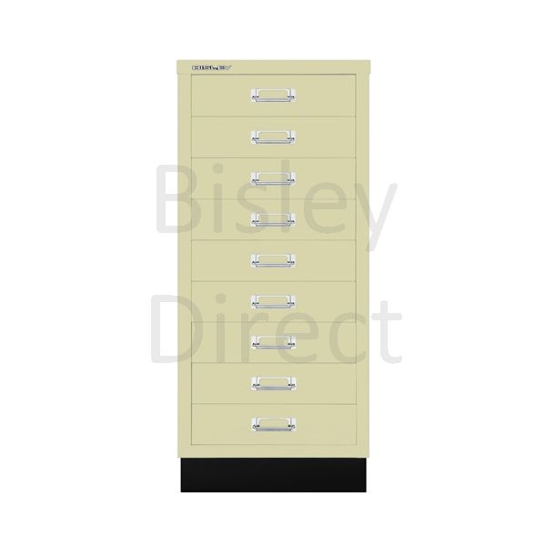 Bisley A3 9 drawer mulitdrawer H94 W 35 D 43.2cm 114-av6-Cream