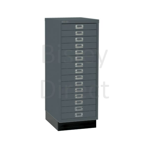 Bisley A3 15 drawer mulitdrawer H94 W 35 D 43.2cm 118-aa3-Anthracite