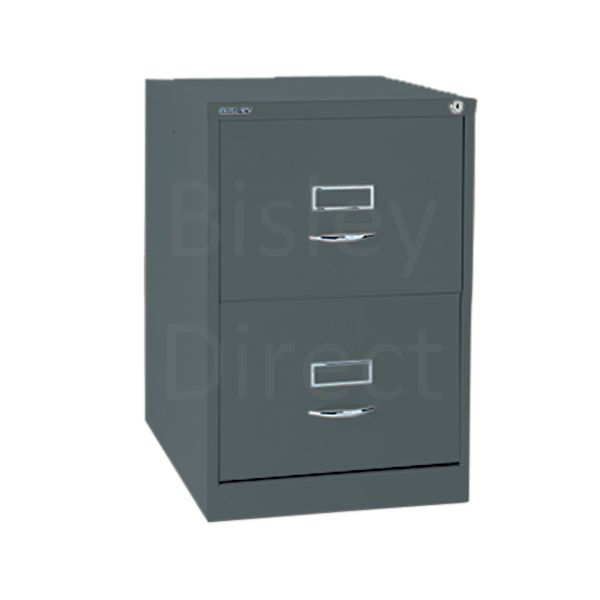 Bisley BS2C Classic Front Filing Cabinets 2 drawer H 71 W 47 D 62 cm 162-aa3-Anthracite
