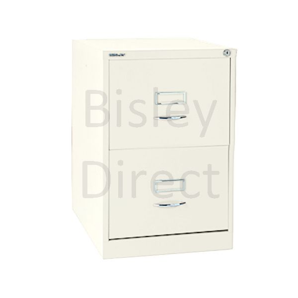 Bisley BS2C Classic Front Filing Cabinets 2 drawer H 71 W 47 D 62 cm 162-ab9-Chalk