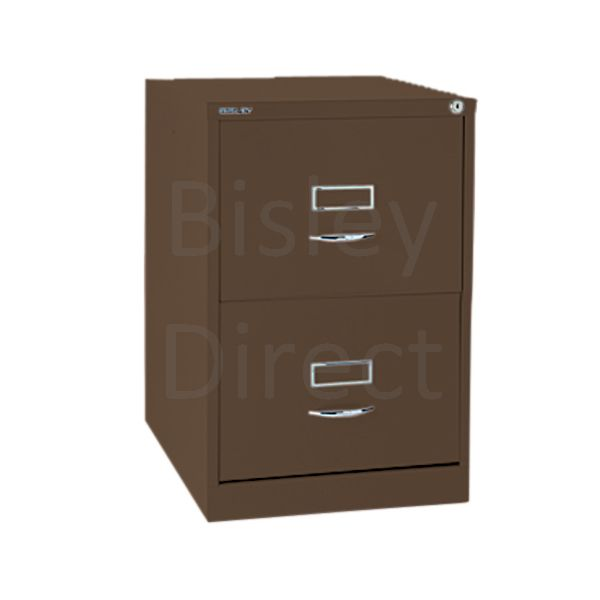 Bisley BS2C Classic Front Filing Cabinets 2 drawer H 71 W 47 D 62 cm 162-av5-Coffee