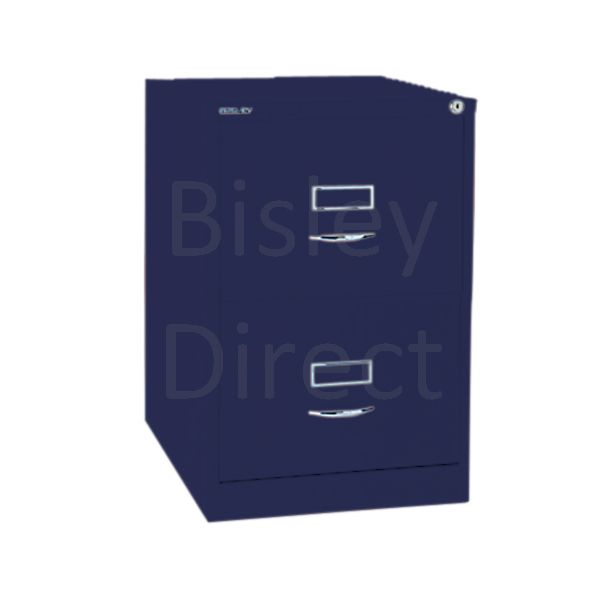 Bisley BS2C Classic Front Filing Cabinets 2 drawer H 71 W 47 D 62 cm 162-ay7-OxfordBlue