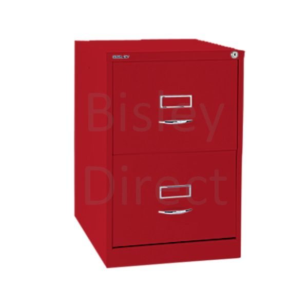 Bisley BS2C Classic Front Filing Cabinets 2 drawer H 71 W 47 D 62 cm 162-ay8-CardinalRed