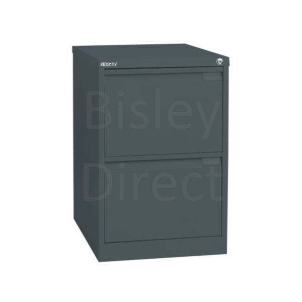 Bisley BS2E Flush Front Filing Cabinets 2 drawer H 71 W 47 D 62 cm 1623-aa3-Anthracite