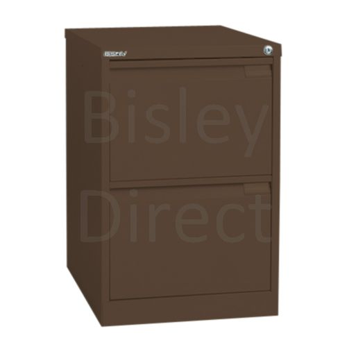 Bisley BS2A4 A4 2 drawer Filing Cabinet H 71 W 41 D 62cm 3623-av5-Coffee