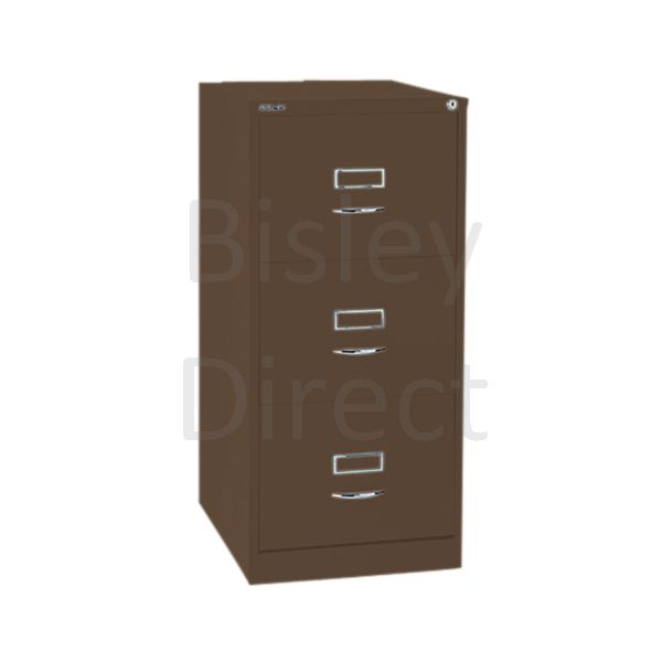 Bisley BS3C Classic Front Filing Cabinets 3 drawer H 101 W 47 D 62 cm 163-av5-Coffee