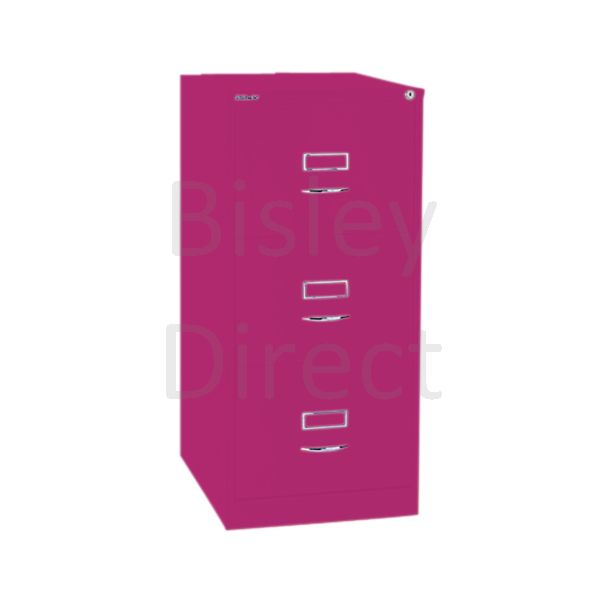 Bisley BS3C Classic Front Filing Cabinets 3 drawer H 101 W 47 D 62 cm 163-be2-Fuschia