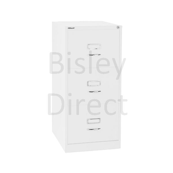 Bisley BS3C Classic Front Filing Cabinets 3 drawer H 101 W 47 D 62 cm 163-ba5-TrafficWhite
