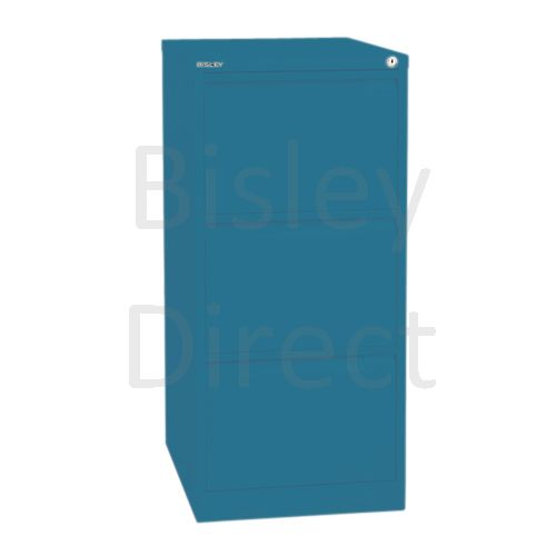 Bisley BS3A4 A4 3 drawer Filing Cabinet H 101 W 41 D 62cm 3633-bp5-Azure