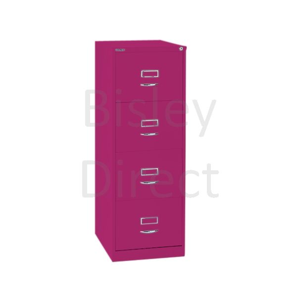 Bisley BS4C Classic Front Filing Cabinets 4 drawer H 131 W 47 D 62 cm 164-be2-Fuschia