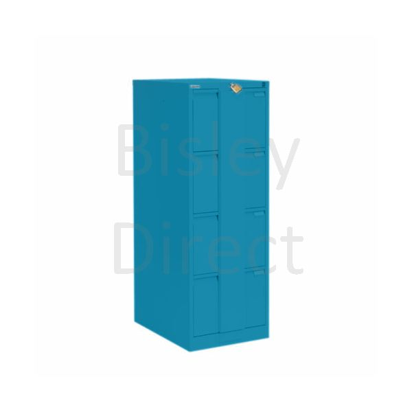 Bisley BS4E Security Flush Front Filing Cabinets 3 drawer H 131 W 47 D 62 cm 16430-bp5-Azure