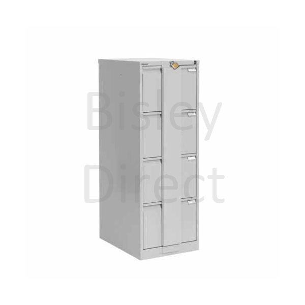 Bisley BS4E Security Flush Front Filing Cabinets 3 drawer H 131 W 47 D 62 cm 16430-av4-GooseGrey