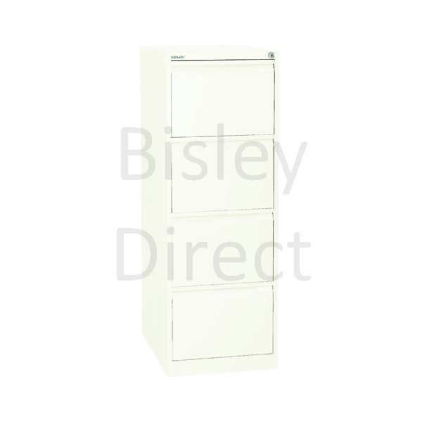 3643-ab9-Chalk Bisley A4 size A4BS4E- 4 Drawer Filing    132cm High 42.3cm wide 62.2cm deep