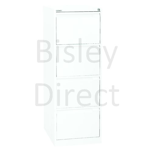 3643-ba5-Traffic White Bisley A4 size A4BS4E- 4 Drawer Filing    132cm High 42.3cm wide 62.2cm deep