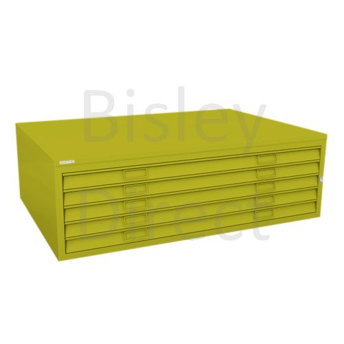 Bisley A0  5 drawer Mid Section Plan file (no top) H 40 W 136 D 93 cm 460-bp8-Mimosa