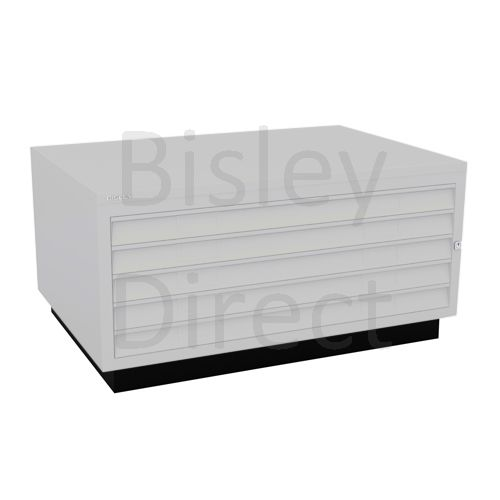 Bisley A1  5 drawer Plan file complete with top and plinth  H 51 W 101 D 69 cm 473-av7-LightGrey