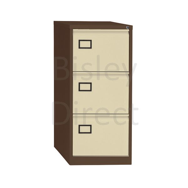 Bisley Coffee Cream AOC Basic filing 3 drawer H 1016mm AOC3-AV5AV6