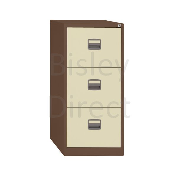 Bisley Coffee Cream Basic Filing Cabinet 3 drawer H 1016mm CC3H1A-AV5AV6