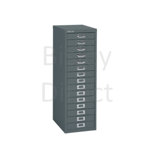 Bisley 15 Drawer non-locking  Multidrawer for home or office H 86 W 28 D 38 cm H3915NL-aa3-Anthracite