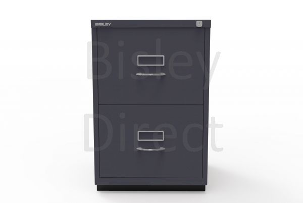 Bisley F Series 2 drawer filing cabinet Classic Front H 71 W 47 D 47cm  046-aa3-Anthracite
