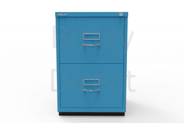 Bisley F Series 2 drawer filing cabinet Classic Front H 71 W 47 D 47cm  046-bp5-Azure