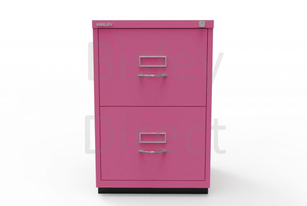 Bisley F Series 2 drawer filing cabinet Classic Front H 71 W 47 D 47cm  046-be2-Fuschia