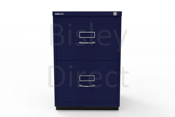 Bisley F Series 2 drawer filing cabinet Classic Front H 71 W 47 D 47cm  046-ay7-OxfordBlue