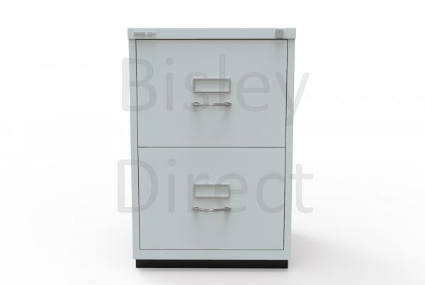 Bisley F Series 2 drawer filing cabinet Classic Front H 71 W 47 D 47cm  046-arn-Silver