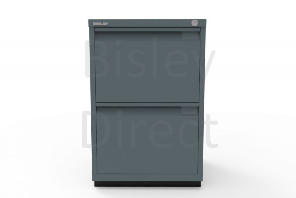 Bisley F Series 2 drawer filing cabinet Flush Front H 71 W 47 D 47cm  0463-aa3-Anthracite