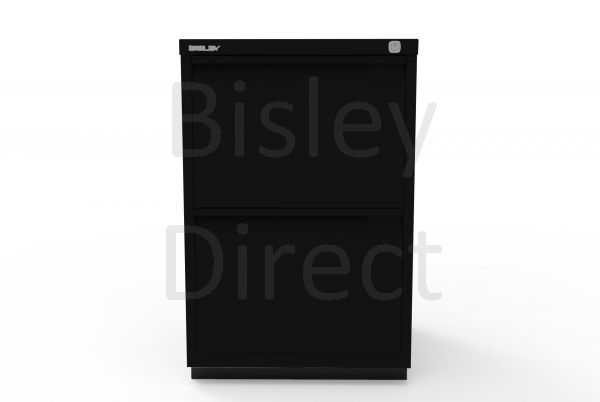 Bisley F Series 2 drawer filing cabinet Flush Front H 71 W 47 D 47cm  0463-av1-Black