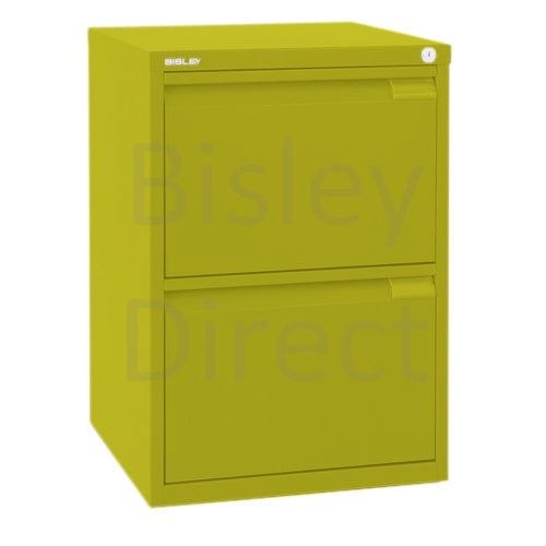 Bisley F Series 2 drawer filing cabinet Flush Front H 71 W 47 D 47cm  0463-bp8-Mimosa