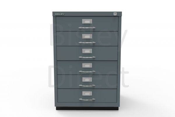 Bisley F Series 6 drawer filing cabinet Classic Front H 71 W 47 D 47cm  049-aa3-Anthracite