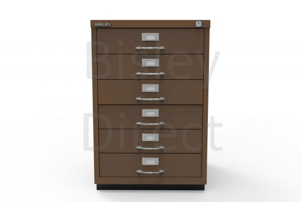 Bisley F Series 6 drawer filing cabinet Classic Front H 71 W 47 D 47cm  049-av5-Coffee