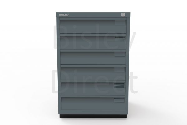 Bisley F Series 6 drawer filing cabinet Flush Front H 71 W 47 D 47cm  0493-aa3-Anthracite