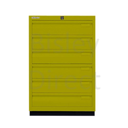 Bisley F Series 6 drawer filing cabinet Flush Front H 71 W 47 D 47cm  0493-bp8-Mimosa