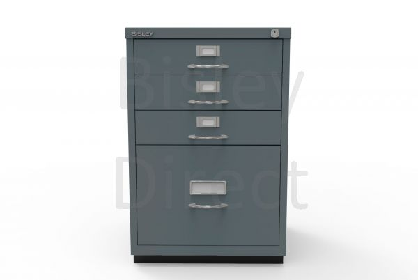 Bisley F Series 4 drawer filing cabinet Classic Front H 71 W 47 D 47cm  050-aa3-Anthracite