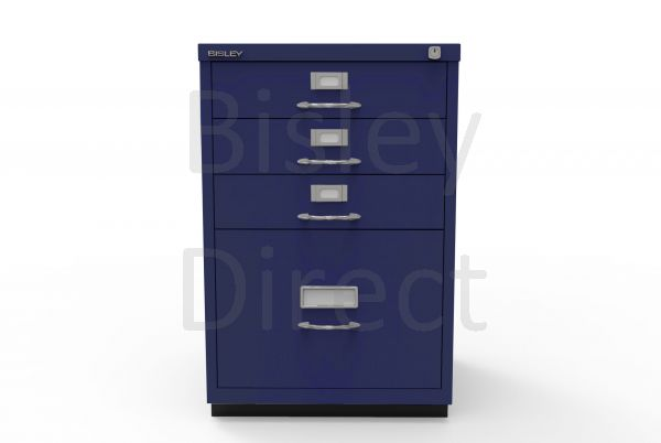 Bisley F Series 4 drawer filing cabinet Classic Front H 71 W 47 D 47cm  050-ay7-OxfordBlue