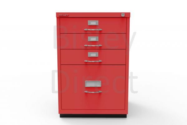 Bisley F Series 4 drawer filing cabinet Classic Front H 71 W 47 D 47cm  050-ay8-CardinalRed