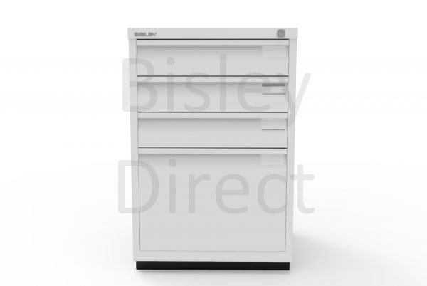 Bisley F Series 4 drawer filing cabinet Flush Front H 71 W 47 D 47cm  0503-av7-LightGrey