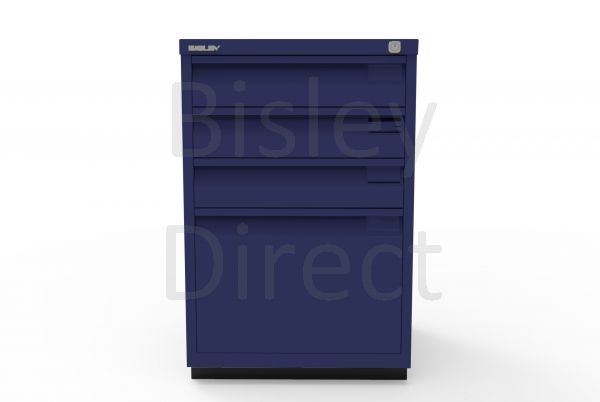 Bisley F Series 4 drawer filing cabinet Flush Front H 71 W 47 D 47cm  0503-ay7-OxfordBlue