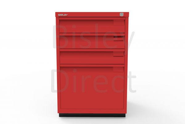 Bisley F Series 4 drawer filing cabinet Flush Front H 71 W 47 D 47cm  0503-ay8-CardinalRed