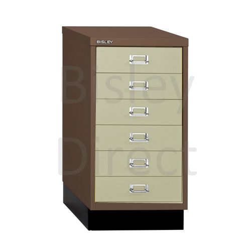 Bisley A3 6 drawer mulitdrawer H67 W 35 D 43.2cm 112-av5av6-CoffeeCream