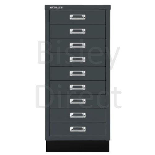 Bisley A3 9 drawer mulitdrawer H94 W 35 D 43.2cm 114-aa3-Anthracite